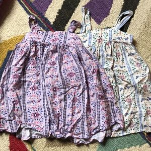 Two gorgeous boho scrappy floral dresses 3t rayon
